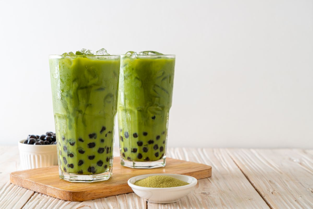 Matcha Bubble Tea and Six Snacks to Complement It